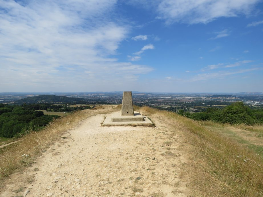 Marker or topograph on Painswick Beacon (Nick Johnston)
